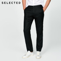 Western-style trousers Selected / Slade Business gentleman Navy Blue Black 165/72A/XSR 165/72A/XSL 170/76A/SR 170/76A/SL 175/80A/MR 175/80A/ML 180/84A/LR 180/84A/LL 185/88A/XLR 185/88A/XLL 190/92A/XXLR 190/92A/XXLL 195/96A/XXXLR trousers youth Business Formal  Solid color hemp More than 95%
