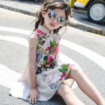 Dress Decor Minoki female 110cm 120cm 130cm 140cm 150cm 160cm Cotton 100% summer ethnic style Broken flowers Pure cotton (100% cotton content) A-line skirt qz1741 Class A