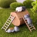 Ornaments wood still life Countryside 1 wooden ladder Tabletop ornaments Study The story of xuanlin Study Semi manual