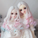BJD doll zone Wigs 1/4 Over 14 years old Pre sale White powder Mint white powder purple Other / other