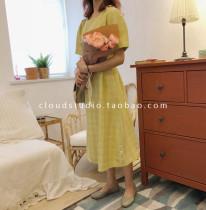 Dress Summer of 2018 Beige yellow Average size