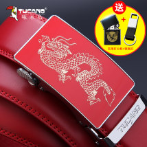 Belt / belt / chain Double skin leather Red black male belt ethnic style Single loop Youth and middle age Automatic buckle Glossy surface Glossy surface 3.5cm alloy alone Tucano / woodpecker WDE1793 Autumn and winter 2017
