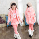 suit Jiekehoma / Jack House Violet Pink Rose female winter motion other 3 pieces Plush There are models in the real shooting Zipper shirt children
