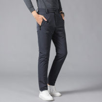 Down pants Sherris Black grey M L XL 2XL 3XL 4XL 5XL Fashion City trousers Wear out 80% - 89% white duck down leisure time youth eighty-eight thousand nine hundred and twenty-seven Basic public Straight cylinder Solid color Polyamide fiber (nylon) 90% polyurethane elastic fiber (spandex) 10% winter