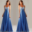 Dress / evening wear Wedding party company annual meeting S M L XL Picture color longuette Summer of 2018 Net crepe 7146#