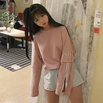 Sweater / sweater Autumn of 2018 White (quality version) pink (quality version) pre sale random M L XL 2XL Long sleeves Socket Medium length singleton  thickening Crew neck easy commute routine letter 18-24 years old 31% (inclusive) - 50% (inclusive) Other / other Korean version other Splicing