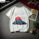 T-shirt Youth fashion white thin L Cheepfeek MogV8GRZ Cotton 95% polyester 5% other Summer of 2018