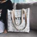 Bag The single shoulder bag canvas Jelly bag Amy rabbit Black, blue, white, yellow, pink brand new Japan and South Korea large leisure time soft zipper