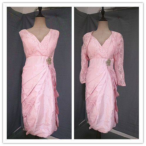 Dress / evening wear Wedding adult party company annual meeting performance Waist 88cm Pink Poplin