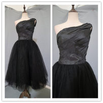 Dress / evening wear Wedding adult party company annual meeting performance XS M Black d8319 Netting