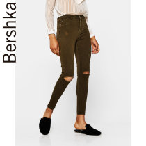 Casual pants khaki 32 (160/58A)34 (165/62A)36 (165/66A)38 (170/70A)40 (170/74A)42 (175/78A) Spring of 2018 trousers Straight pants Natural waist street routine 25-29 years old 05250388505-21 Bershka Cotton 98% polyurethane elastic fiber (spandex) 2% Europe and America