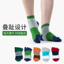 Socks / base socks / silk socks / leg socks male Other / other Other sizes 1 pair Thin money Middle cylinder summer motion stripe cotton Five toe socks GR5161