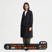 Windbreaker other decesolo S M L XL black Medium length easy Single breasted Other leisure autumn youth Lapel Japanese Retro Cotton 63% Teflon 37% Edge grinding Side seam pocket Assembly