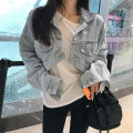short coat Autumn of 2018 Average size wathet Long sleeves routine routine singleton  Self cultivation commute Solid color 18-24 years old Other / other
