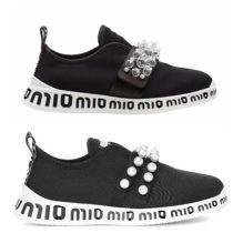 Low top shoes 34 35 36 37 38 39 40 Mymiu / home Black Diamond grey Diamond Red Diamond Black Pearl Grey Pearl Red Pearl Round head Flat bottom rubber