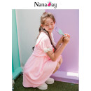 Dress Summer of 2018 Pink XSSM Middle-skirt Short sleeve Sweet V-neck middle-waisted Socket A-line skirt 18-24 years old Nana day / Nana diary NC7649 Polyester 100% college