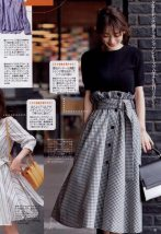 skirt Summer of 2018 M Black and white check