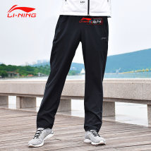 trousers AYKN119 Ling / Li Ning One hundred and ninety-nine male S/165M/170L/175XL/180XXL/1853XL/1904XL/195 Aykn119-2 standard black aykn119-3 night sky blue Summer of 2018 Tightness Sports & Leisure routine Comprehensive training series Brand logo letter other Quick drying middle-waisted yes