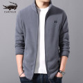 Sweater Youth fashion Cartelo / Cartelo crocodile 165 170 175 180 185 190 Cardigan Solid color Plush stand collar winter Slim fit motion youth tide