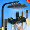 Shower faucet (suit) Городская логистическая доставка GH661 Настенный медь Двойной контроль с одной ручкой Золотой берег Двойной смеситель для душа Роторный подъем Другие / другие