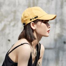Hat cotton Black yellow pink blue army green Adjustable peaked cap Spring summer autumn female leisure time Young couple dome Big eaves 15-19 years old 20-24 years old 25-29 years old 30-34 years old 35-39 years old Mesh Travel Curved eaves SFRY / silk spinning sf18031101 Spring / summer 2018 yes