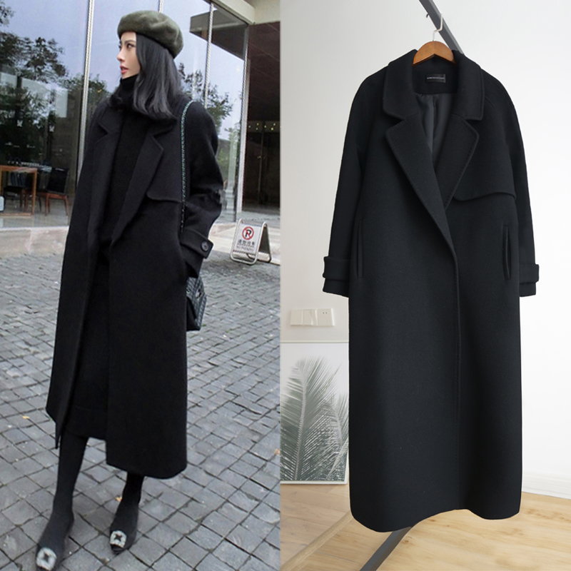 woolen coat Winter of 2018 Price increase of 299 XS S M L XL after collection and shopping cart free freight insurance activity Cotton Black Pashmina