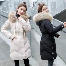 Cotton padded clothes Black Beige ginger M L XL 2XL 3XL 4XL clothes are too small, one size larger is recommended Winter of 2018 Love in a strange way Medium length Long sleeves thickening zipper commute Hood routine Self cultivation Solid color Korean version 08 Cotton 96% and above Polyester 100%