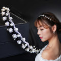 Hair accessories hair hoop RMB 25-29.99 Good decoration brand new Japan and South Korea Fresh out of the oven Alloy / silver / gold Alloy inlaid artificial gem / semi gem TM-FG007 Autumn of 2018 yes Pure e-commerce (online only)