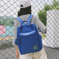 Backpack canvas Other / other Yellow red gray blue black pink brand new in zipper campus Double root Japan and South Korea soft youth yes Soft handle