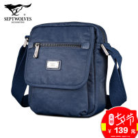 Men's bag The single shoulder bag oxford Septwolves Blue large blue small dark grey large dark grey small black large black small brand new leisure time leisure time Zipper buckle soft in yes Zipper hidden bag certificate bag sandwich zipper bag computer insert bag Solid color Yes Single root youth