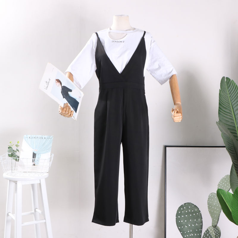 Casual pants black L Autumn of 2018 Ninth pants rompers High waist Sweet routine 18-24 years old 31% (inclusive) - 50% (inclusive) CX22-02430 other college