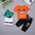 suit Tong bukeji White green orange male summer motion Short sleeve + pants 2 pieces Thin money There are models in the real shooting Socket nothing