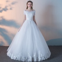 Wedding dress Spring of 2018 Balance payment Tailor made xxlxssmlxl Korean version Fluffy skirt Bandage Hotel Interior One shoulder Gridding yarn Three dimensional cutting PLAIS223 middle-waisted 18-25 years old Nail bead Sleeved shawl Press  Large size Pure e-commerce (online only) Other 100%
