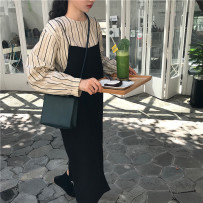 Fashion suit Autumn of 2018 Average size Striped top with suspender skirt 18-25 years old Other / other