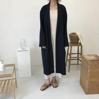 short coat Summer of 2018 Average size Khaki black Long sleeves Medium length routine singleton  easy commute