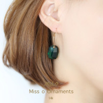 Earrings Natural crystal / semi precious stone 101-200 yuan other Emerald brand new female Original design goods in stock Fresh out of the oven other other EH018 other