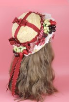 Hat Straw weaving Straw hat construction period 1-2 weeks M(56-58cm) autumn 004