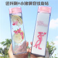 Handy cup Cartoon 401ml (inclusive) - 500ml (inclusive) other Tail leopard square cup love leopard square cup walk leopard square cup claw seal leopard square cup rainbow Unicorn square cup tears Unicorn square cup take off Unicorn square cup Covered Chinese Mainland