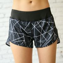 Sports pants / shorts Black shorts middle waist black shorts eighteen million sixty thousand and forty-two Other / other One hundred and sixty-nine female S M L XL shorts Summer of 2018 Moisture absorption and perspiration, quick drying, ventilation and super elasticity Tightness outdoor sport