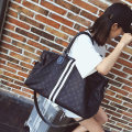 Travel bag oxford nothing Xiang Qi Black a pattern black B pattern black C pure black large yes leisure time Single root European and American fashion Bag type polyester fiber Soft handle youth Zipper pocket, mobile phone bag, certificate bag