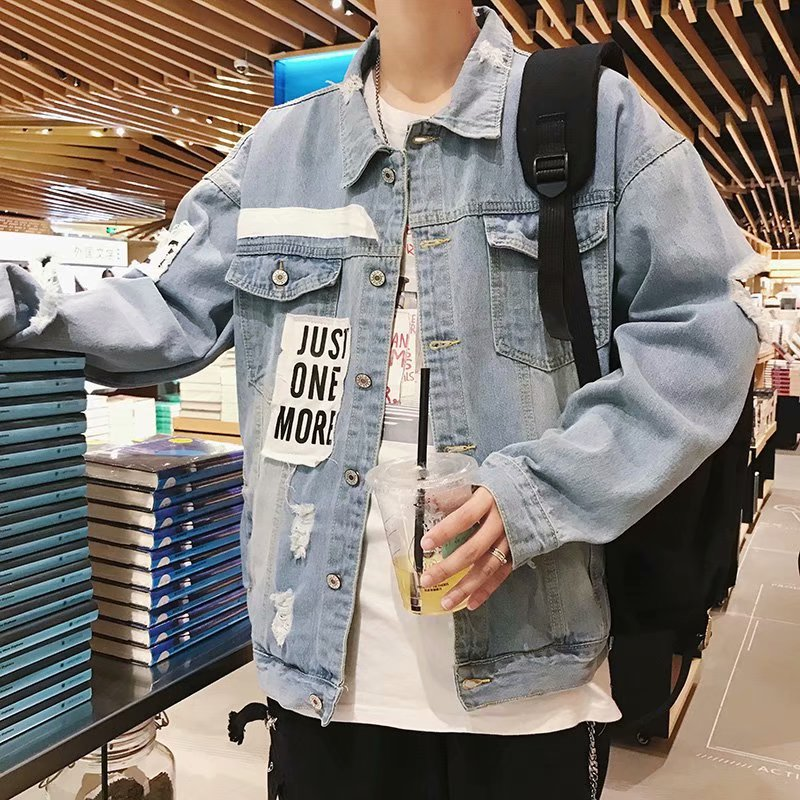 Jacket Other / other Youth fashion J03 high quality Superman dark blue S M L XL 2XL 3XL routine easy Other leisure Four seasons Long sleeves Wear out Lapel tide teenagers routine Single breasted 2018 Rib hem washing Loose cuff More than two bags) Digging bags with lids