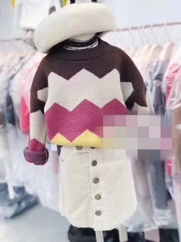 Sweater / sweater 90cm recommended height (110 yards) 100cm recommended height (120 yards) 110cm recommended height (130 yards) 120cm recommended height (140 yards) 130cm recommended height (150 yards) other female Beige collar and coffee collar Other / other leisure time No model Socket routine