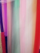 Fabric / fabric / handmade DIY fabric Netting Loose shear rice Solid color Yarn dyed weaving clothing Japan and South Korea Swiss net