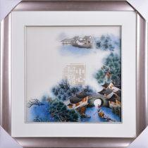 Suzhou embroidery Одежда Постельные принадлежности Скатерть Этап Художественное оформление Другие Современный китайский Суд Yan Yi 50cmx50cm Водный городок Цзяньнань