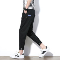 Casual pants Others Youth fashion Free style with Khaki Navy black army green M L XL 2XL 3XL 4XL 5XL routine trousers Travel? Self cultivation Micro bomb K17116 Four seasons Large size like a breath of fresh air 2018 Medium low back Little feet Cotton 100% Tapered pants Pocket decoration washing