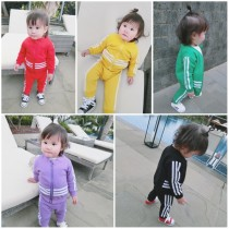 suit Other / other Yellow red purple green black 66cm 73cm 80cm 90cm 100cm 110cm 120cm 130cm female spring and autumn motion Long sleeve + pants other