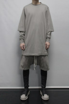T-shirt Youth fashion blackish green routine S M L XL RICK OWENS Long sleeves Crew neck easy Other leisure Four seasons