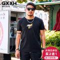 T-shirt Youth fashion T18865c black routine 6XL GxxH t18865c Cotton 95% polyurethane elastic fiber (spandex) 5% Summer of 2018