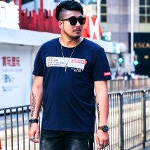 T-shirt Youth fashion T18761c Baolan routine 6XL GxxH t18761c Cotton 95% polyurethane elastic fiber (spandex) 5% Summer of 2018