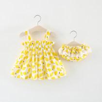 suit Other / other Yellow rose 66cm 73cm 80cm 85cm 90cm 95cm 100cm female summer Versatile Sleeveless + pants 2 pieces Thin money No model nothing